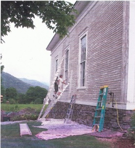 As the restoration neared completion, Mike Shepard was hired to paint the exterior of the building.